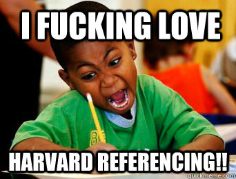 How do I use Harvard referencing when...?